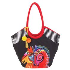 e65a7cdddaf Caravan of Friends Horse Scoop Tote Bags Sun'N'Sand - Laurel Burch Studios