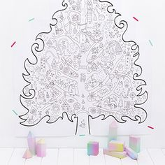 Awesome website with tons of printable fun projects for kids - like this huge tree that you piece with multiple sheets of paper and tape to the wall to be colored!