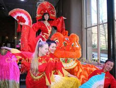 Chinese New Year Entertainment to hire. Chinese classical dancers, Chinese Lion (staged act + walkabout entertainment), Chinese Astrology, Chinese Stilt and Chinese Fortune Cookie Hostess. Chinese New Year Party, New Years Party, Chinese Lion Dance, Chinese Astrology, Entertainment Logo, Walkabout, Corporate Events, Party Themes, London Birmingham