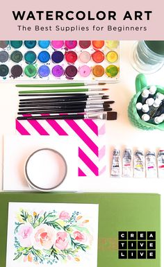 Find out what paints to buy, which paper to invest and how to get started in CreativeLive's Guide to Watercolors for Beginners.