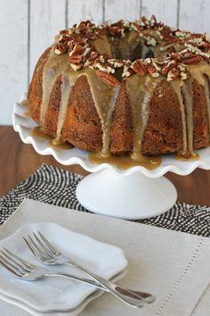 Apple Cream Cheese Bundt Cake - glorioustreats.com Fall Desserts, Just Desserts, Delicious Desserts, Yummy Food, Cupcakes, Cupcake Cakes, Bundt Cakes, Apple Recipes, Cake Recipes