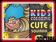 Cute Squirrel, Coloring For Kids, 2d