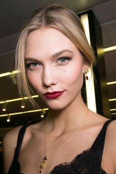 Black liner shows its versatility, red lipstick feels exciting again and flushed skin replaces contouring this season. Here, the 9 beauty trends to know for the season.