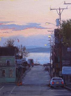 Early Risers by Kathleen Dunphy Oil ~ 12 x 9