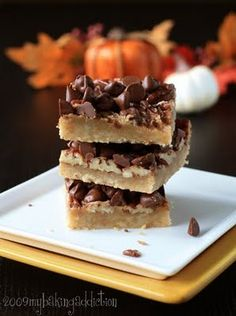 English Toffee Bars - These are one of our favorite things to make around the holidays.  You and use butterscotch morsels as well.