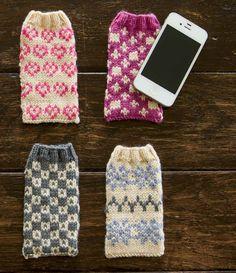 Faeroe Phonecovers Pattern; Eline Oftedal; Interweave Knits Gifts | InterweaveStore.com