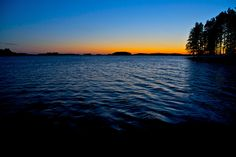 Photo by Petri Karvonen | Lake Kallavesi and Midnight Sky | Flickr - Photo Sharing!