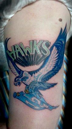 Seattle Seahawks Hawk Tattoo done by Bree Giesy at Damask Tattoo in Seattle, WA