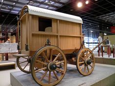 Reconstruction of a Roman traveling carriage richly decorated with bronze fittings, Romisch-Germanisches Museum, Cologne   Flickr - Photo Sharing!