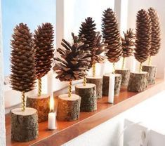 Christmas Decorations with Pine Cones - DIY Craft Ideas - .- Weihnachtsdeko basteln mit Tannenzapfen – DIY Bastelideen – Tannenzapfen Deko Christmas Decorations with Pine Cones – DIY Craft Ideas – Pine Cones Deco … - Christmas Photo, Winter Christmas, Magical Christmas, Christmas Trees, Natural Christmas, Christmas Candle, Christmas Wood, Christmas Ornaments, Christmas Decorations To Make