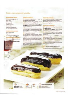 Revista bimby pt-s02-0015 - fevereiro 2012 Kitchen Reviews, Eclairs, Recipe Cards, Nom Nom, Bakery, Deserts, Food And Drink, Yummy Food, Eat