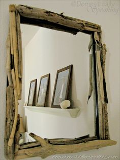 drift wood frame from domestically-speaking.com