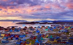 colorful houses of greenland myggedalen village Beautiful Places In The World, Places Around The World, Great Places, Around The Worlds, Places To Travel, Travel Destinations, Places To Go, Cinque Terre, Greenland Travel