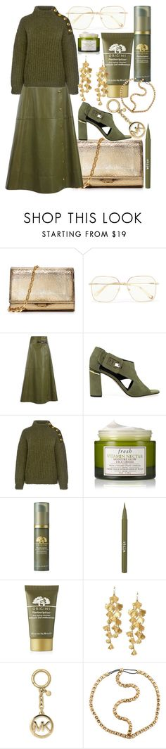 """olive your opinion"" by frelofe ❤ liked on Polyvore featuring Michael Kors, Chloé, Sonia Rykiel, M4D3, Boutique Moschino, Fresh, Origins, Stila, Tory Burch and MICHAEL Michael Kors"