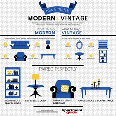Mix & Match: Modern and Vintage Decor. Why is this basically my living room? Hah!