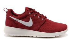 Nike Roshe Run Men's Shoes – Dark Red White Cheap Sale Online Shoes Size:( Roshe Run Shoes, Nike Roshe Run, Nike Shoes Cheap, Nike Free Shoes, Cheap Nike, Nike Sb, Nike Zoom, Womens Shoes 2014, Yeezy 350 Shoes