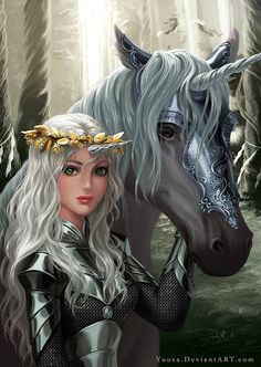 unicorn warhorse? I think I need to give these 2 characters a story.