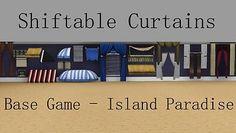 Mod The Sims - Shiftable Curtains [Base Game - Island Paradise]