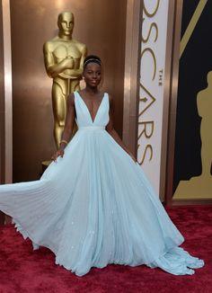 Fabulously Spotted: Lupita Nyong'o Wearing Prada - 2014 Oscars  - http://www.becauseiamfabulous.com/2014/03/lupita-nyongo-wearing-prada-2014-oscars/