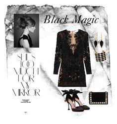 """Black Magic"" by susunshine ❤ liked on Polyvore featuring Zuhair Murad, Miu Miu, Rika, Tomasini, Isabel Marant, House of Harlow 1960, black and MyStyle"