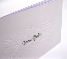 letterpress debossing, hot foil and edge painting! Design and printing by Polyprint24.be