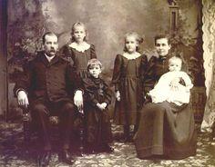 1893 photos of children | 1893 Miller Family Christmas Photo