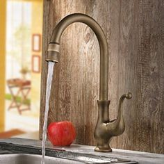 Jiayoujia Antique Brass Traditional Kitchen Faucet