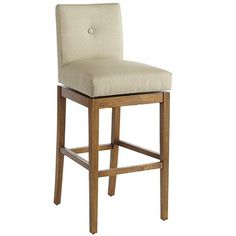 The Parsons School created a modern masterpiece when it designed its first iconic chair. Our Mattie stools are our latest interpretations of the classic. Built on a birch frame with straight lines and tapered legs, each is hand-upholstered and has a comfortably cushioned seat and back, a single tufted button and a slightly shorter back.