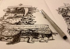 EAT - Illustration & Lettering by Jorge Tabanera, via Behance