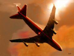 Gliding - digital art by Marcello Cicchini.