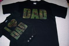 Hey, I found this really awesome Etsy listing at https://www.etsy.com/listing/161949143/baby-boy-camo-bodysuit-camo-dad-shirt