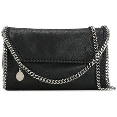 Stella McCartney 'Falabella Shaggy Deer' Shoulder Bag ($850) ❤ liked on Polyvore featuring bags, handbags, shoulder bags, real leather purses, genuine leather handbags, faux-leather handbags, shoulder handbags and leather shoulder handbags