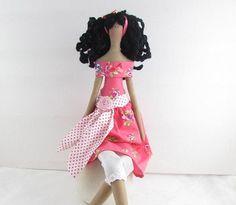 Tilda Doll  Coral Off the shoulder by Therubyrange on Etsy