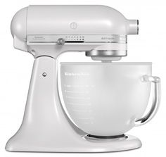 New pearl white color stand mixer from @KitchenAidUSA