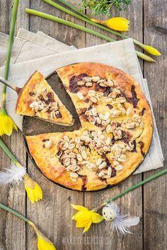 Fit sernik z kaszy jaglanej i twarogu na spodzie z orzechów włoskich, bez mąki, cukru i tłuszczu