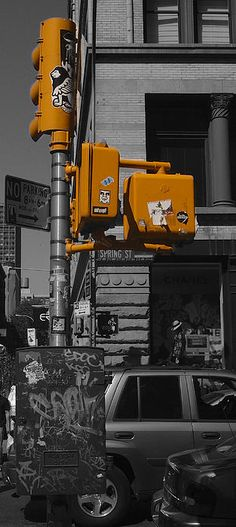 This is a simple image of some street furniture in New York in the form of some smart yellow traffic lights. The City has such amazing variety and I walked from Brooklyn Bridge to Central Park shooting (with my camera) anything and everything that took my eye.  http://fineartamerica.com/featured/new-york-traffic-lights-john-colley.html?newartwork=true