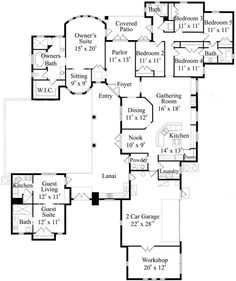 1000 images about 5 bedroom house plans on pinterest for 3500 sq ft ranch house plans