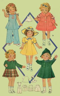 Vintage Shirley Temple doll clothes pattern