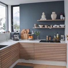 31 Modern Kitchen Area Ideas Every Residence Prepare Requirements to See Cosy Kitchen, Rustic Kitchen Cabinets, Scandinavian Kitchen, Kitchen Furniture, Kitchen Interior, New Kitchen, Home Living, Kitchen Living, Küchen Design