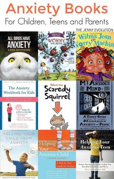 Anxiety Books for Kids - Including children, teens and parents (parenting books about anxiety) | The Jenny Evolution