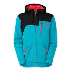 THE NORTH FACE MEN'S SPINEOLOGY HOODIE  Whether you layer this new soft shell hoodie under a hard shell on big, blockbuster days, or wear this solo while you're building a ramp at the park, this new soft shell hoodie has you covered. Constructed from a soft jersey-face fleece on the exterior and a cozy, brushed fleece backer for added comfort, this versatile hoodie provides ample, secure stash zip pockets for all-day riding.