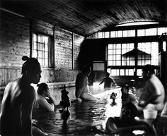 Sumo wrestlers, 2011 by Tomasz Gudzowaty || Wrestlers from Michinoku stable enjoy taking onsen at Kanyaka Ryokan after the autumn tournament in Tokyo.