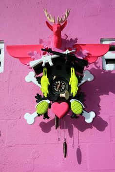 Stefan Strumbel's heimat cuckoo-clocks are incredible!