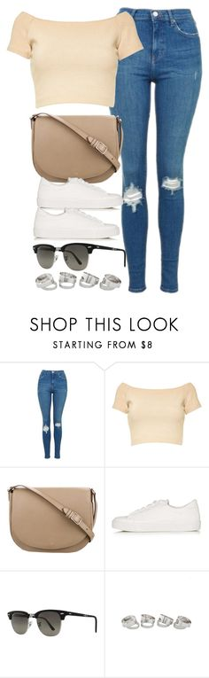 """Sin título #13242"" by vany-alvarado ❤ liked on Polyvore featuring Topshop, Alice + Olivia, CÉLINE and Ray-Ban"