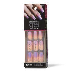 Shop for Tropical Paradise Gel Nail Kit by Nail Bliss at Sally Beauty. French Acrylic Nails, Best Acrylic Nails, Summer Acrylic Nails, French Tip Nails, Claire's Fake Nails, Kiss Nails, Fake Nails For Kids, Glittery Nails, French Nail Designs