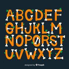 Halloween Vector, Vector Free, Alphabet, Creative, Bulletin Boards, Fonts, October, Design, Designer Fonts