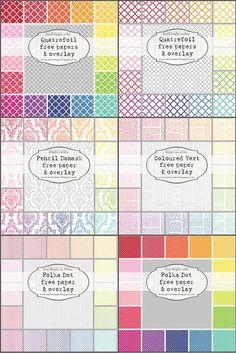 Awesome FREE digital paper downloads - including damasks, quatrefoil, polka dots etc | MelStampz
