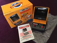 SNOOPY TABLETOP COMPLETE Game & Watch SUPER RARE unique worldwide Nintendo 1983