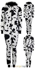 NEW LADIES COW PRINT JUMPSUIT WOMENS SOFT ALL IN ONE PLAYSUIT SLEEPSUIT ONESIE in Clothes, Shoes & Accessories, Women's Clothing, Jumpsuits & Playsuits | eBay