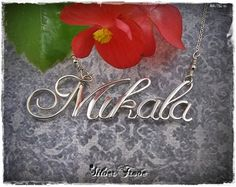 Sterling Silver Calligraphy Script Name Necklace - Amazing work by Silver Trove